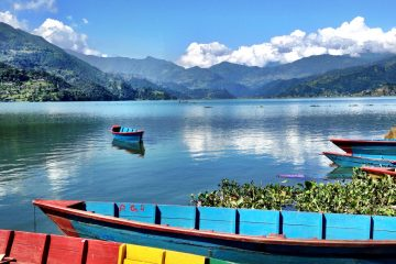 Phewa Lake the signature landmark of Pokhara